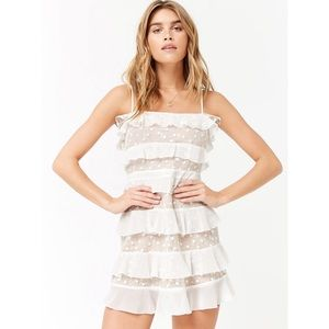 Forever 21 White Lace Ruffle Dress - NWT!